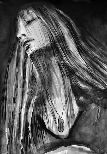 Model with Long hair, 2014H