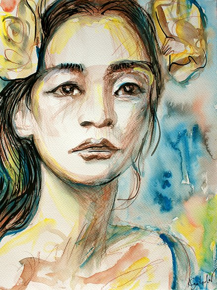 Girl with flowers, 2014