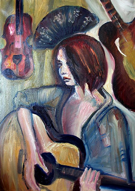Girl Playing guitar, 2011G