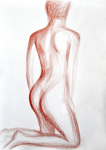 nude woman from the back, 2015
