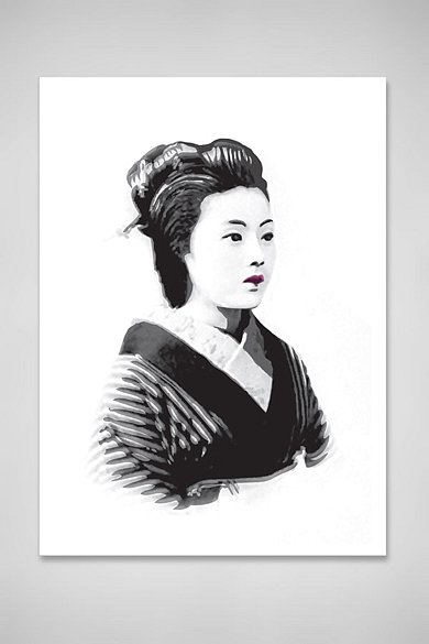 Portrait of a geisha, 2014