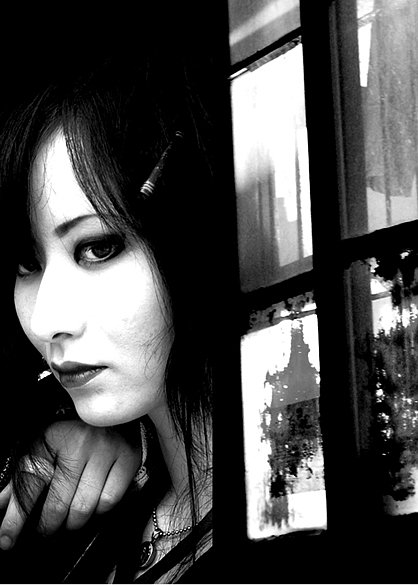 japanese girl in window, 2010