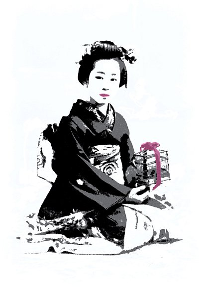 Geisha with a cage, 2015