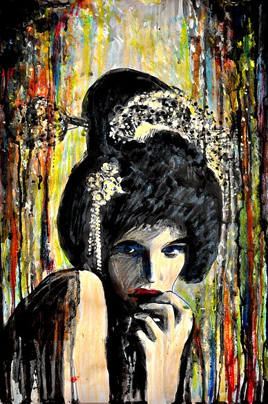 Woman Posing as a Geisha, 2015