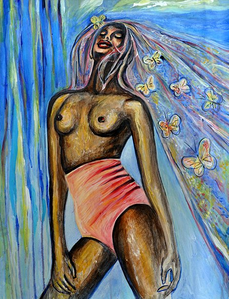 Black model with Butterflies, 2016