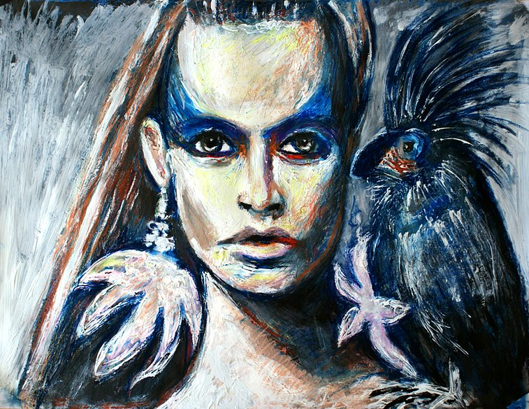 Girl with Parrot, 2014
